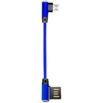 Double Elbow Weaving Data Cable - BLUE