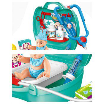 Mini Play Educational Toys Children Carrying Boxes of Male Girl Role Green - LIGHT CYAN