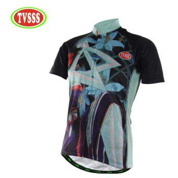 TVSSS Men Summer Style Bike Cycling Jersey T-Shirt - multicolor XL
