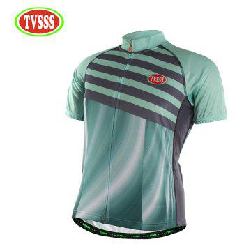 TVSSS Men Summer Green Short Sleeve Bike Sportswear - multicolor M