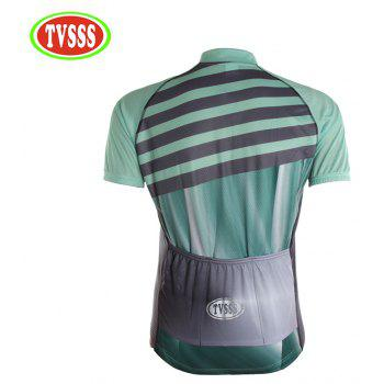 TVSSS Men Summer Green Short Sleeve Bike Sportswear - multicolor 4XL
