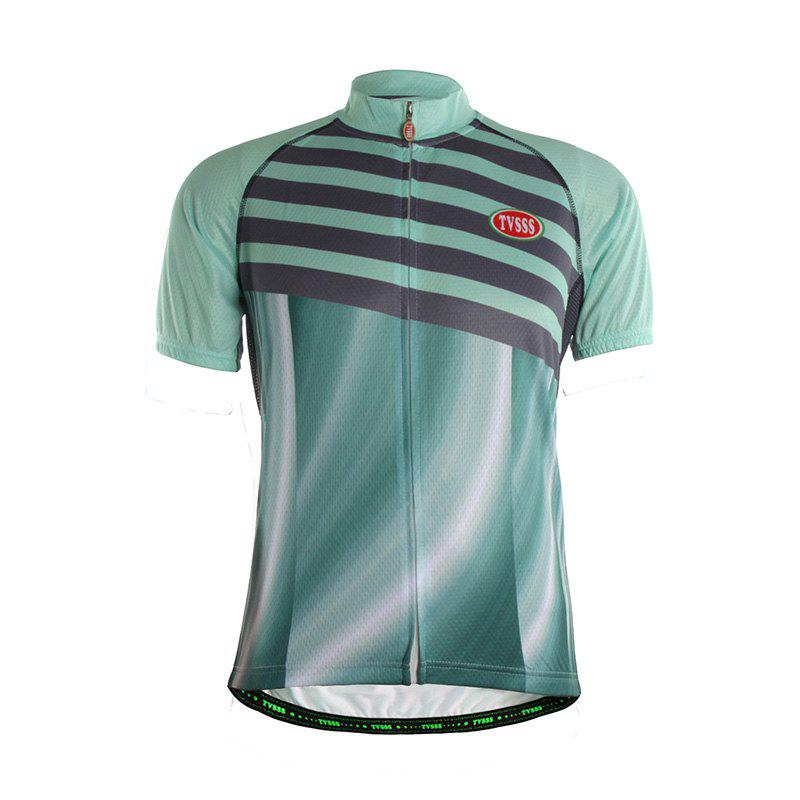 TVSSS Men Summer Green Short Sleeve Bike Sportswear - multicolor XL