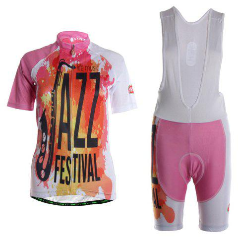 TVSSS Women Summer Short Sleeve Color Cycling Jersey Suit - multicolor S