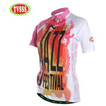 TVSSS Women Summer Short Sleeve Color Cycling Jersey Suit - multicolor M