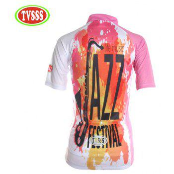 TVSSS Women Summer Short Sleeve Color Cycling Jersey Suit - multicolor L