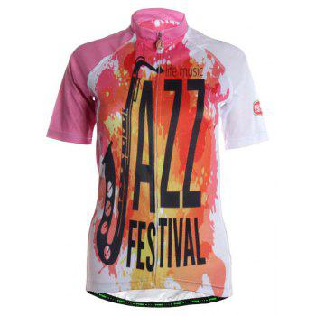 TVSSS Women Summer Short Sleeve Color Cycling Jersey Suit - multicolor XL