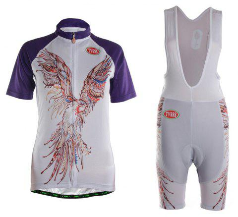 TVSSS Women Summer Short Eagle Pattern Cycling Jersey Suit - multicolor XL