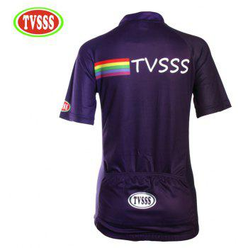 TVSSS Women Summer Short Sleeve Blue Cycling Jersey Suit - EGGPLANT S