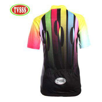 TVSSS Women Summer Short Sleeve Color Cycling Jersey T-Shirt  - multicolor L