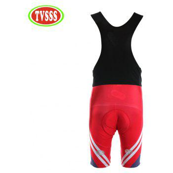 TVSSS Women Summer Short Sleeve White Twill Pattern Red Cycling Suit - RED 3XL