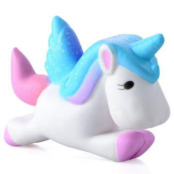 Slow Rebound Bread Unicorn Unzip Toy Jumbo Squishy - multicolor