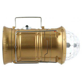 Collapsible LED Light Rechargeable Camping Light for Outdoor Trekking Hiking - ORANGE GOLD