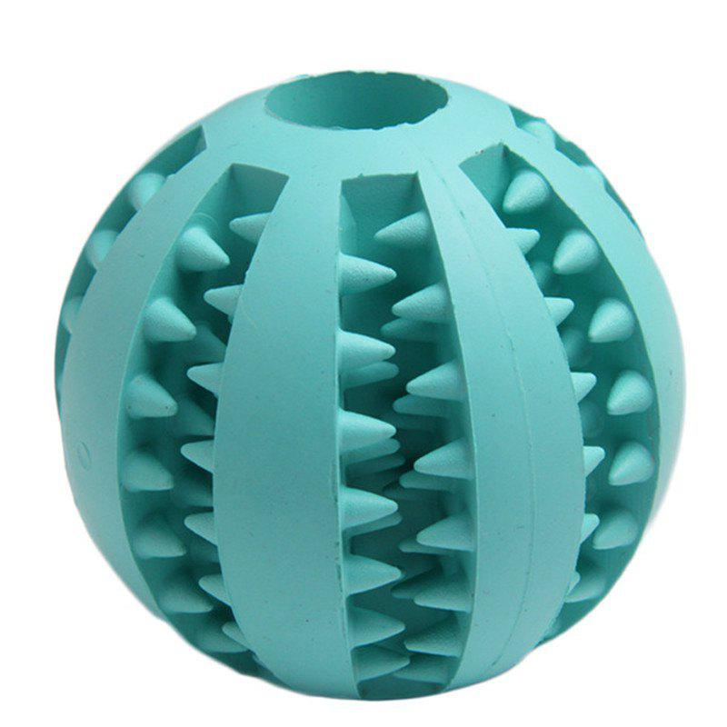 Pet Rubber Health Teeth Interactive Chew Toy Biting Dog Ball super soft frisbee ufo style silicone indoor outdoor toy for pet dog light green