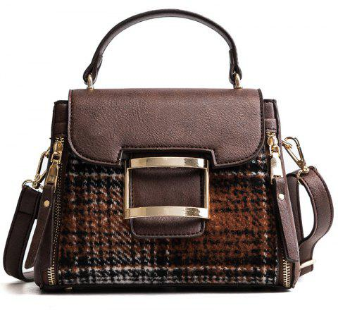 Woman New Fashion Chain Hand Bill  Lading Shoulder Bag Lock Messenger - COFFEE 22 X 10 X 18