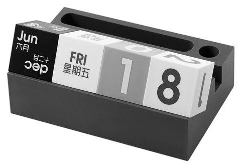 Desktop Multifunctional Desk Calendar Mobile Phone Frame Ornaments - ASH GRAY