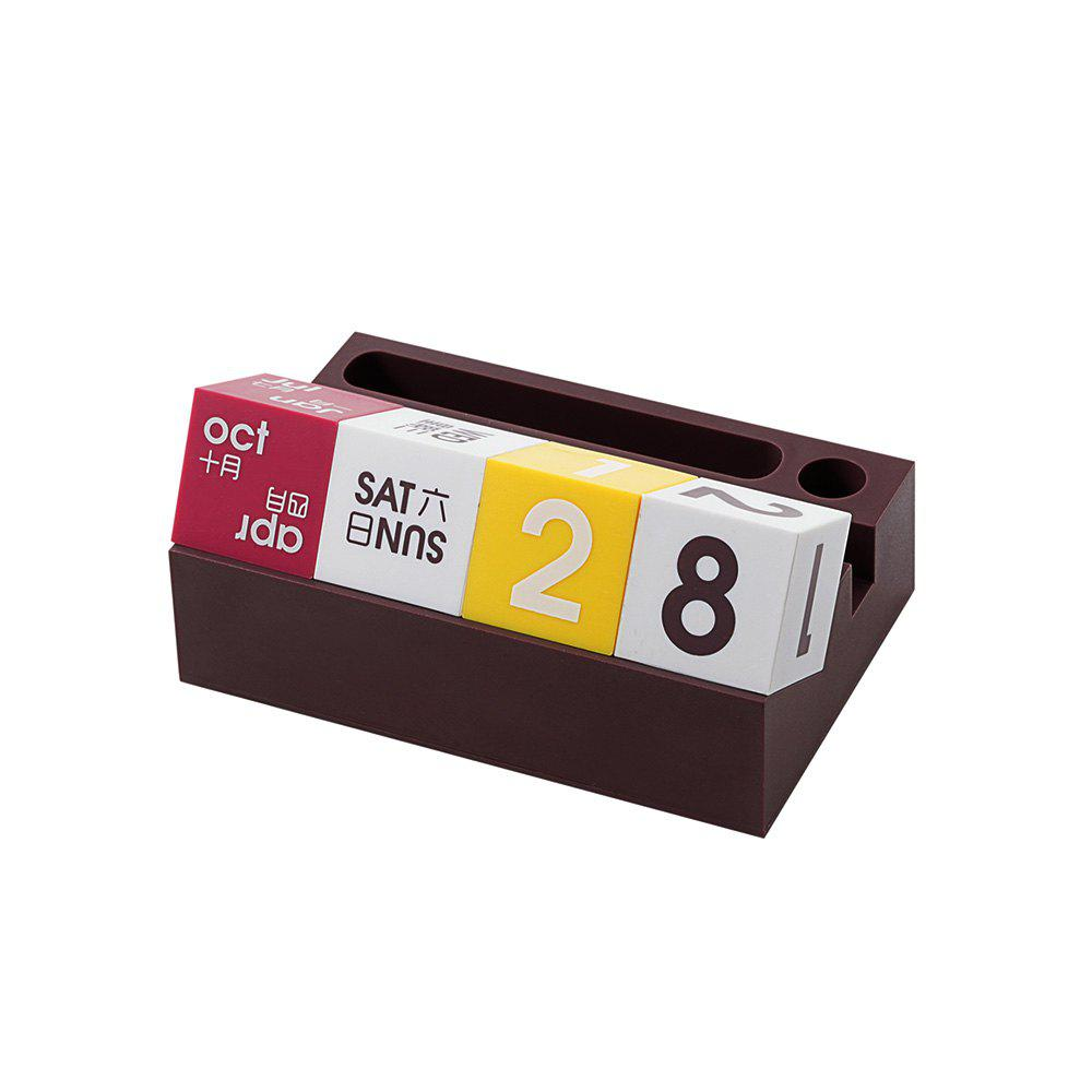 Desktop Multifunctional Desk Calendar Mobile Phone Frame Ornaments - MAROON