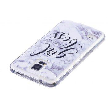 Girl Characters Fashion Marble Soft TPU Phone Case for Samsung Galaxy S5 Mini - WHITE