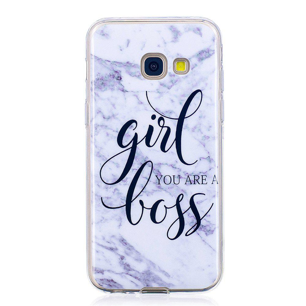 Girl Characters Fashion Marble Soft TPU Phone Case for Samsung Galaxy A5 2017 - WHITE