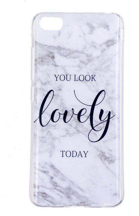 Ultra Thin Lovely Characters Fashion Marble Soft TPU Phone Case for Xiomi 5S - WHITE