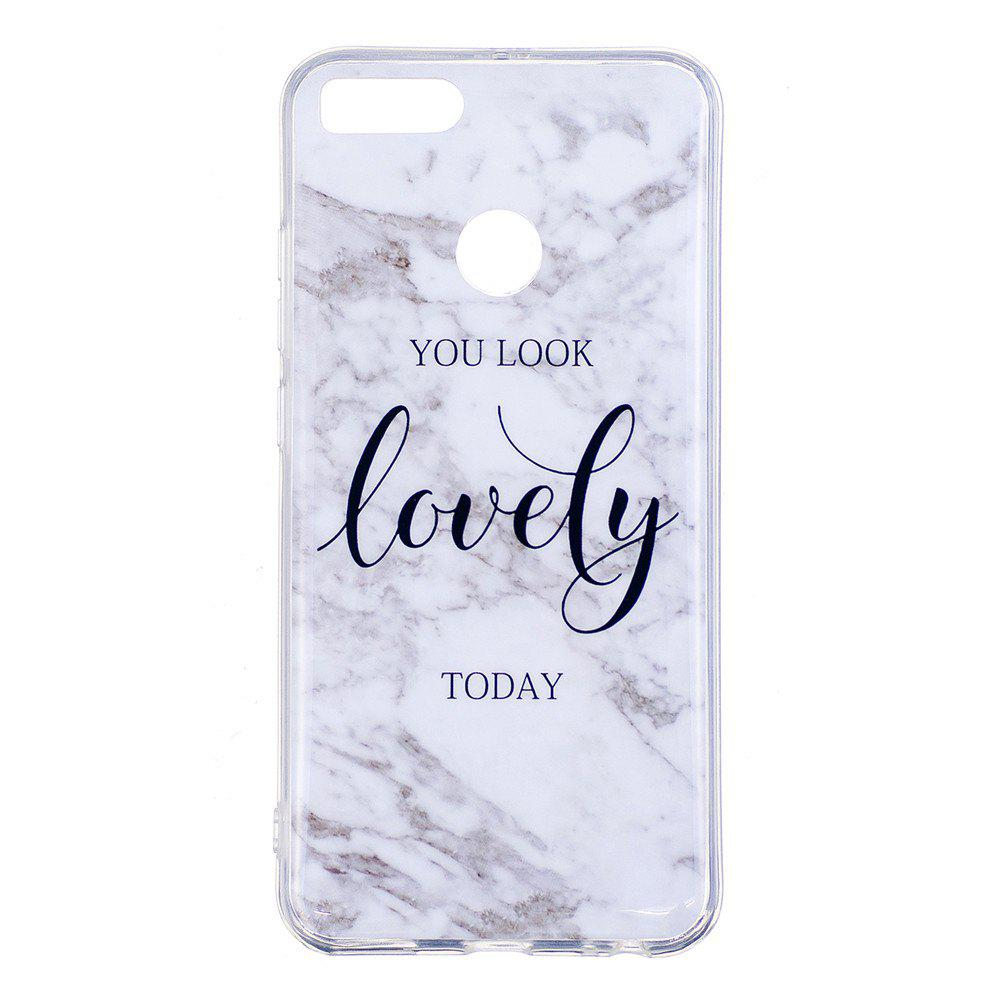 Ultra Thin Lovely Characters Fashion Marble Soft TPU Phone Case for Xiomi 5X - WHITE