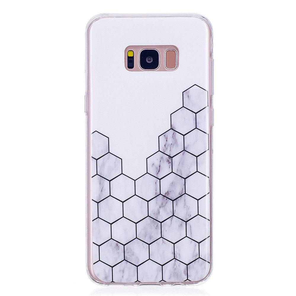 Ultra Thin Plaid Fashion Marble Soft TPU Phone Case for Samsung Galaxy S8 Plus ultra thin grey white mixed color character marble stone patterned soft tpu phone case for iphone 8 plus