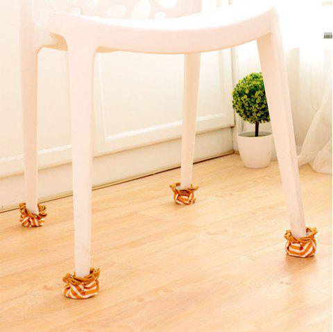 Extra Thick Cloth Furniture Table Chair Foot Cover - YELLOW