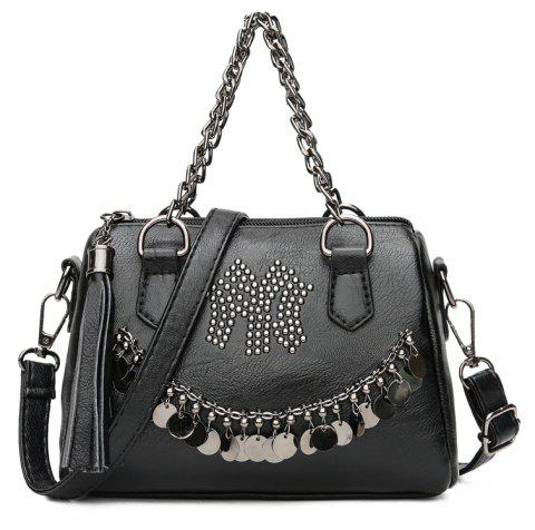 DA883 Hand Chain Bag Ladies Satchel - BLACK