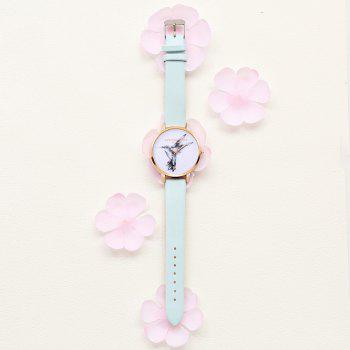 Fashionable White and Simple Trendy Student Alloy Quartz Watch - PASTEL BLUE