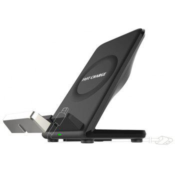 Fast Charge Wireless Charger Pad for iPhone X 8 Samsung S8 S9 Galaxy Note 8 - BLACK