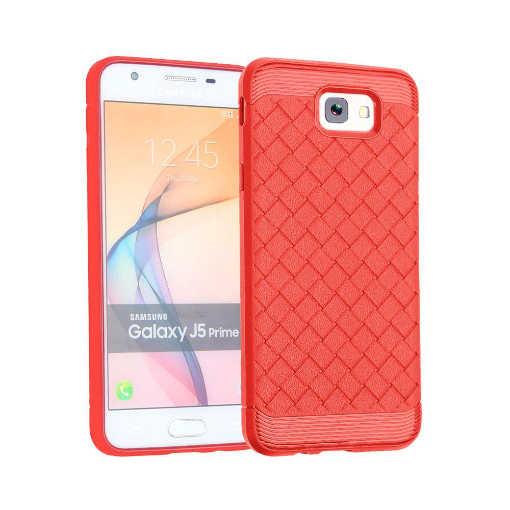 Luxury TPU Silicone Soft Phone Case for Samsung Galaxy J5 Prime Back Cover - RED