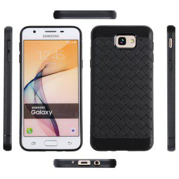 Luxury TPU Silicone Soft Phone Case for Samsung Galaxy J7 Prime Back Cover - BLACK