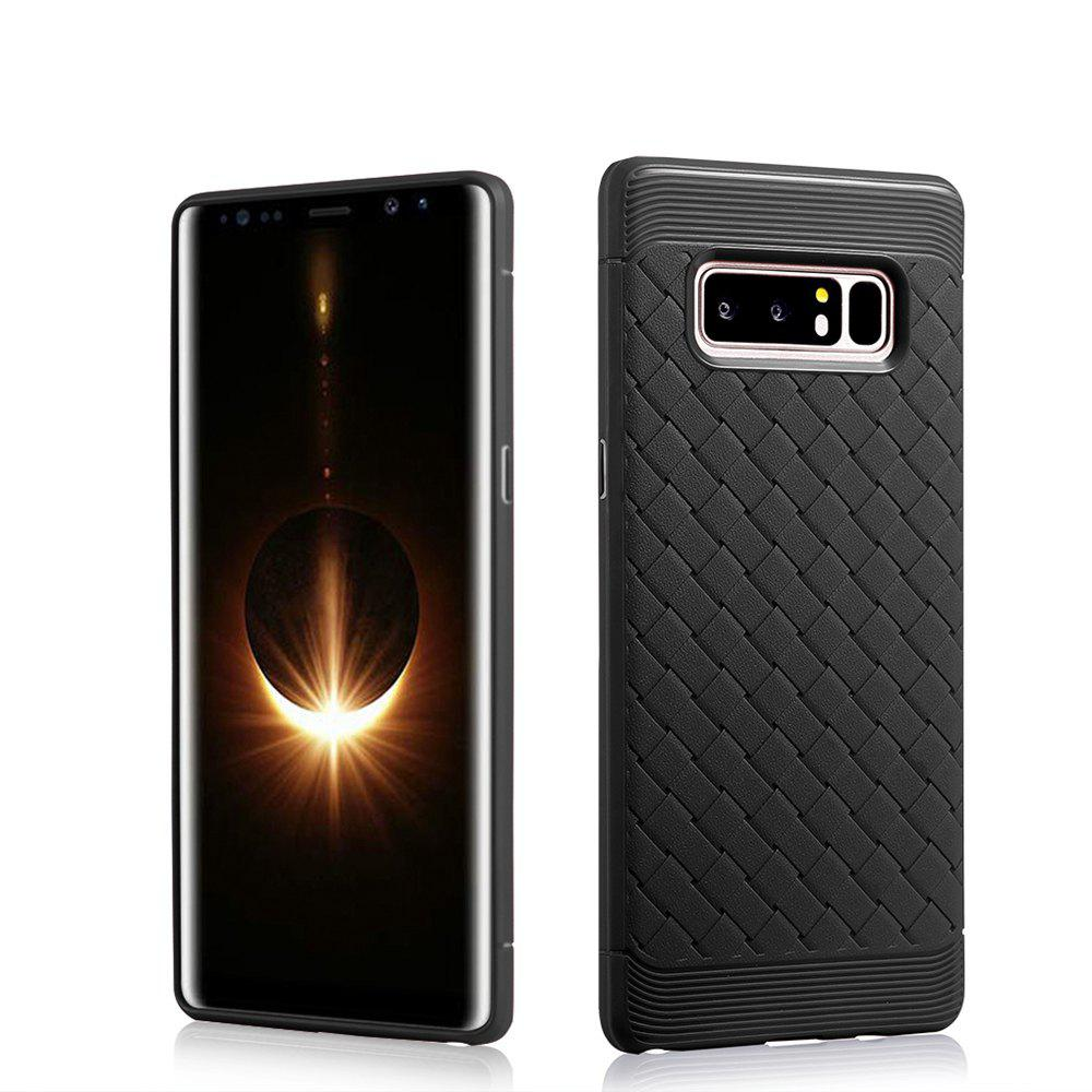 Luxury TPU Silicone Soft Phone Case for Samsung Galaxy Note 8 Back Cover - BLACK