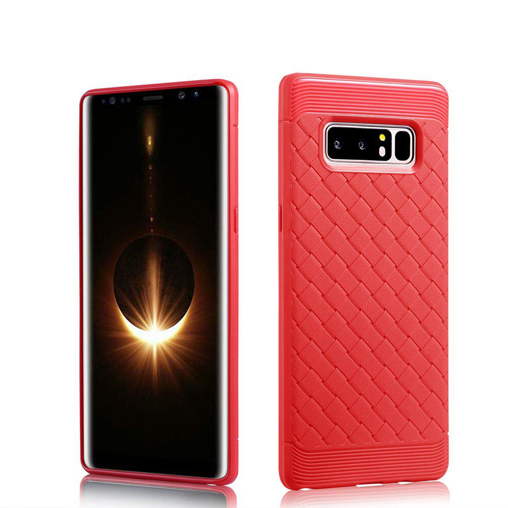 Luxury TPU Silicone Soft Phone Case for Samsung Galaxy Note 8 Back Cover - RED