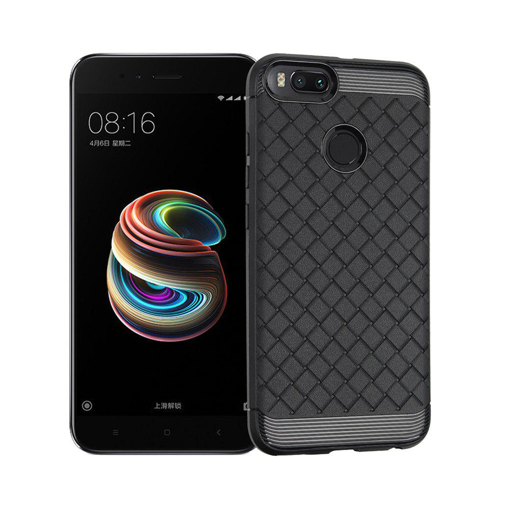 Luxury TPU Silicone Soft Phone Case for Xiaomi Mi 5X Back Cover - BLACK
