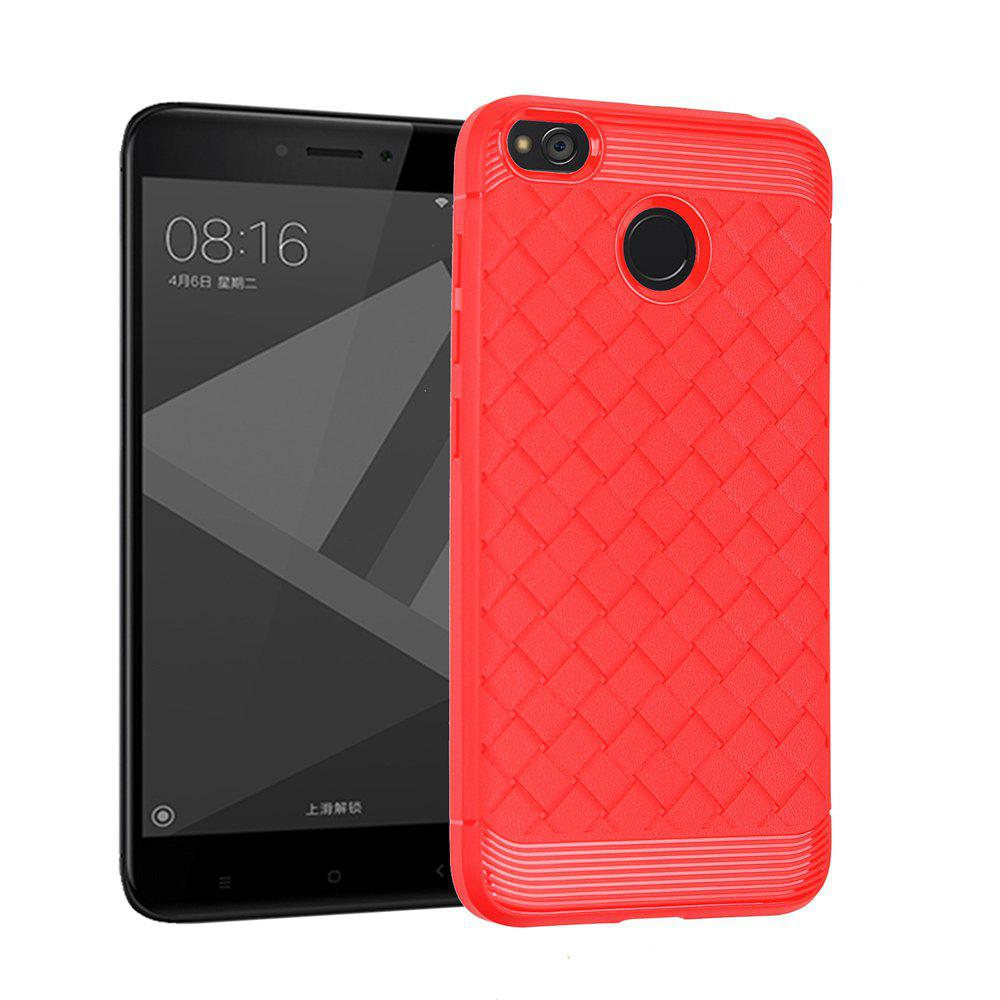 Luxury TPU Silicone Soft Phone Case for Xiaomi Redmi 4X Back Cover - RED