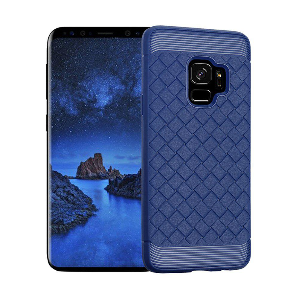 Luxury TPU Silicone Soft Phone Case for Samsung Galaxy S9 Plus Back Cover - BLUE