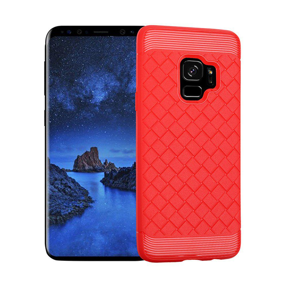 Luxury TPU Silicone Soft Phone Case for Samsung Galaxy S9 Plus Back Cover - RED
