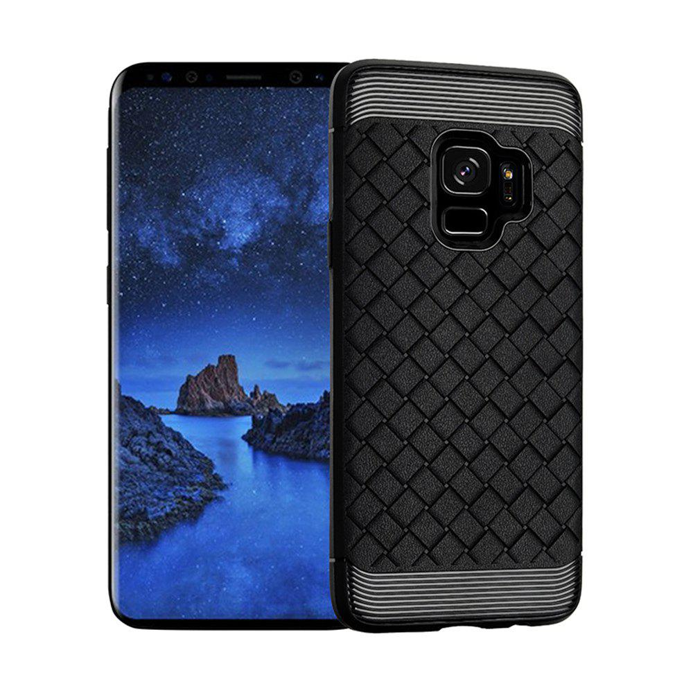 Luxury TPU Silicone Soft Phone Case for Samsung Galaxy S9 Plus Back Cover - BLACK