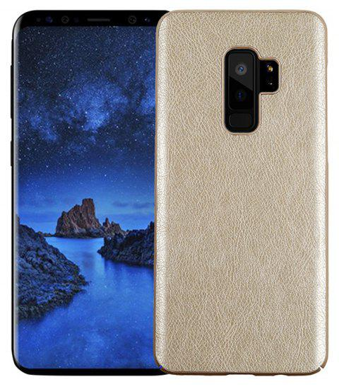 Retro Genuine Leather Hard Phone Case For Samsung Galaxy S9 Plus Back Cover - WARM WHITE
