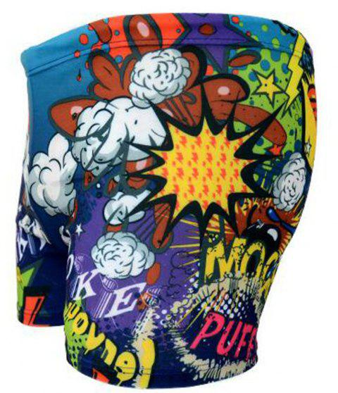 Printed Hot Spring for Men Swimming Trunks - BLUE ONE SIZE(FIT SIZE XS TO M)