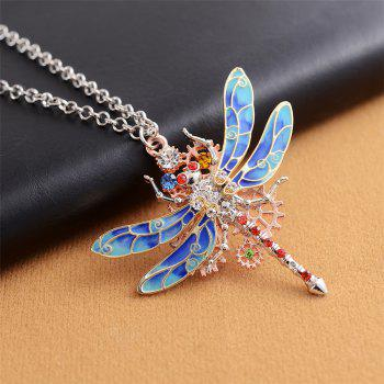 New European and American Fashion Jewelry Steampunk Gear Diamond Color Necklace - SCARLET