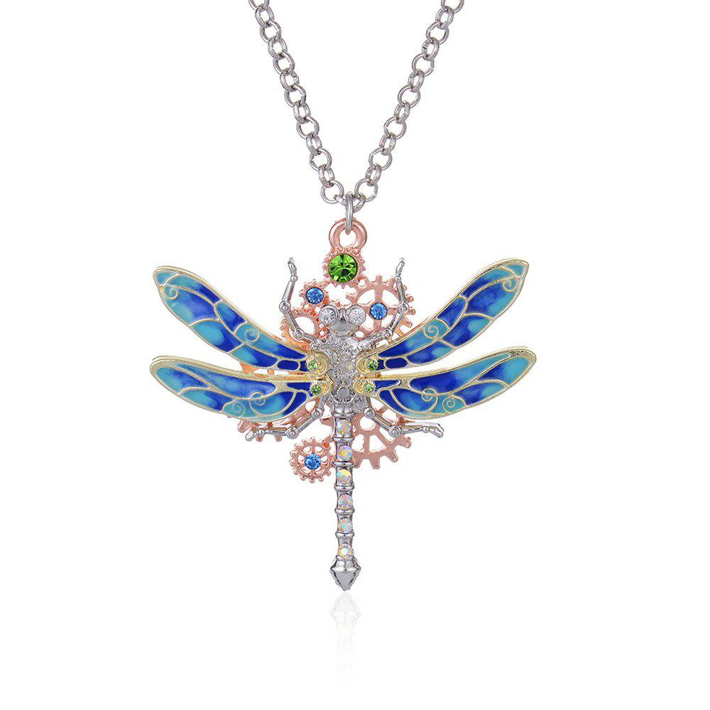 New European and American Fashion Jewelry Steampunk Gear Diamond Color Necklace цена