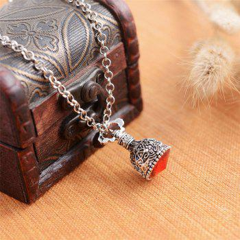 European and American Fashion Jewelry Gothic Crystal Mosaic Alloy Necklace - RUBY RED