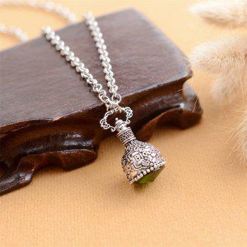 European and American Fashion Jewelry Gothic Crystal Mosaic Alloy Necklace - GREEN APPLE