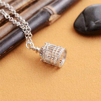European and American Fashion Jewelry Gothic Vintage Birdcage Pendant Necklace - SILVER