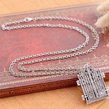 New European and American Hot Gothic Stereo Box Pendant Necklace - SILVER