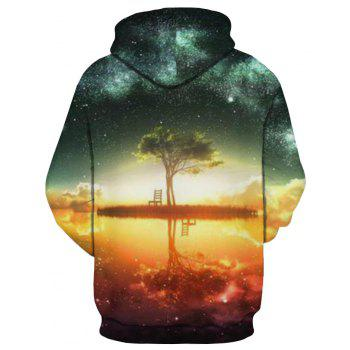 Winter New Fashion 3D Printing Men's Hoodie - multicolor M