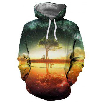 Winter New Fashion 3D Printing Men's Hoodie - multicolor XL