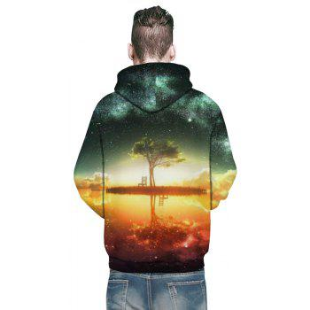 Winter New Fashion 3D Printing Men's Hoodie - multicolor 3XL
