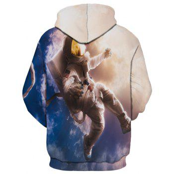 Fashion New Astronaut 3D Printing Men's Hoodie - multicolor 2XL